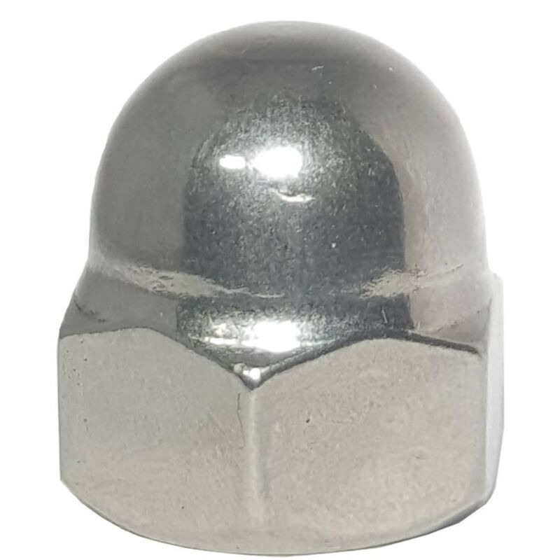 M6 x 1.0 Acorn Hex Cap Nut Grade A2 18-8 Stainless Steel Qty 50