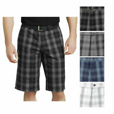 Dickies Shorts Flex 13 Men's Flat Front Flex Plaid Relaxed Fit Multi Pocket