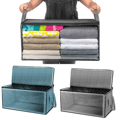 2Pcs Foldable Storage Bag Clothes Blanket Sweater Quilt Storage Box Organizer US Sweater Storage Boxes