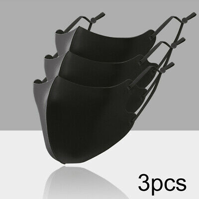 3Pcs Adults Reusable Anti Droplet Adjustable Ear Hook Washable Face Cover Mgic Accessories