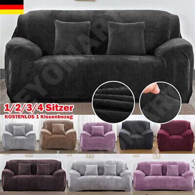 Sofa Überwürfe Sofabezug Stretch Samt Sofahusse für 1-4 Sitzer Sofa Abdeckung DE