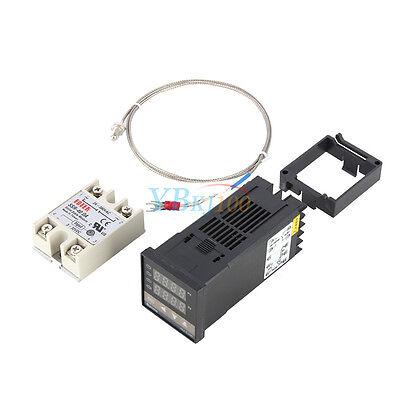 Digital Pid Temperature Control 40a Ssr K Thermocouple 0 To 400 Rex-c100 Us