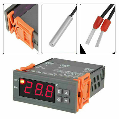 Digital Temperature Controller Thermostat Mh1210w Ac 110 220v With Probe