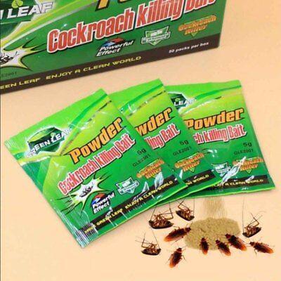 10Packs Green Leaf Powder Cockroach Killer Bait Repeller Trap Pest Control