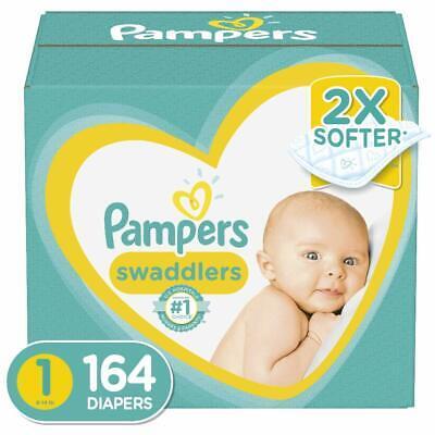 Diapers Newborn / Size 1 (8-14 lb), 164 Count - Pampers Swaddlers Disposable
