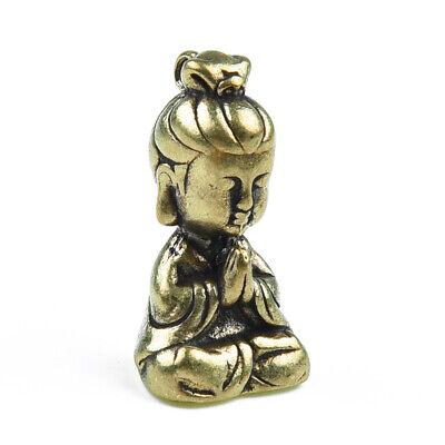 Miniatura Latón Buda Figurita Estatua Ornament Casa Interior Hogar Decoración