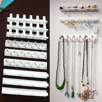 (Jewelry Wall Mount Organizer Hanging Earring Holder Necklace Display Rack US)