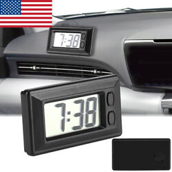 Digital LCD Table Auto Car Dashboard Desk Date Time Calendar Small Clock Healthy