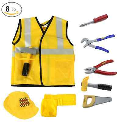 Construction Worker Costume For Kids (Construction Worker Costumes with Accessories Costome Kit Set for)