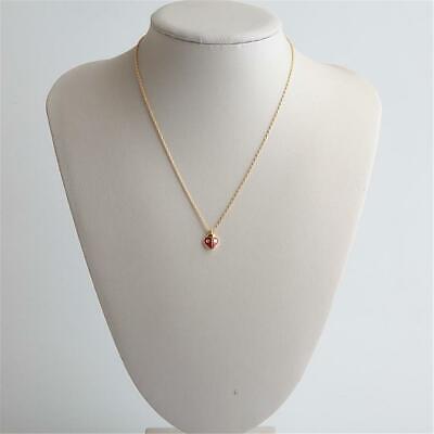 Kate Spade New York Animal Party Ladybug Mini Pendant Necklace Gold Tone