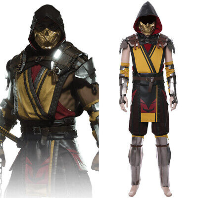 Game Mortal Kombat 11 Cosplay Scorpion Costume Halloween Adult Male Outfit Suit - Scorpion Adult Costume