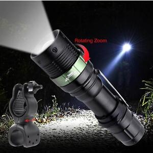 Zoom 6000 Lumens CREE LED Flashlight Waterproof Lamp Bicycle Torch Clip 360° BA