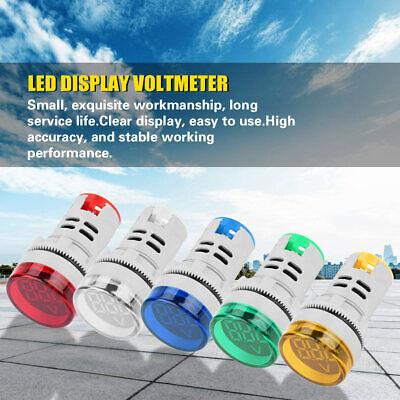Round Led Signal Light Lamp Ac Digital Display Voltmeter Indicator High Quality