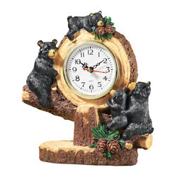 Woodland Bear Lodge Tabletop Clock, by Collections Etc