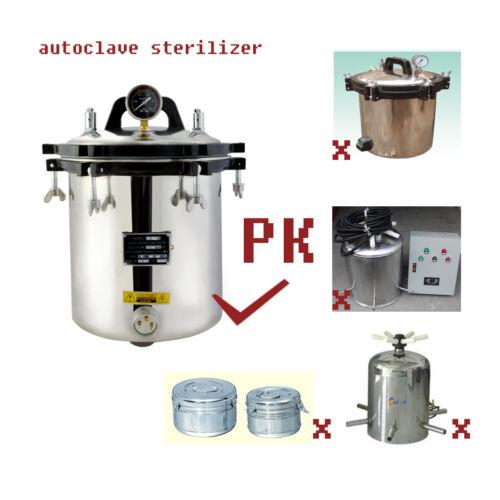 18l High Pressure Steam Autoclave Sterilizer Tattoo Denta...