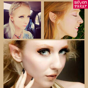 UK Elf Ears Spock Hobbit Fairy Cosplay Halloween Fancy Dress Costume Accessory