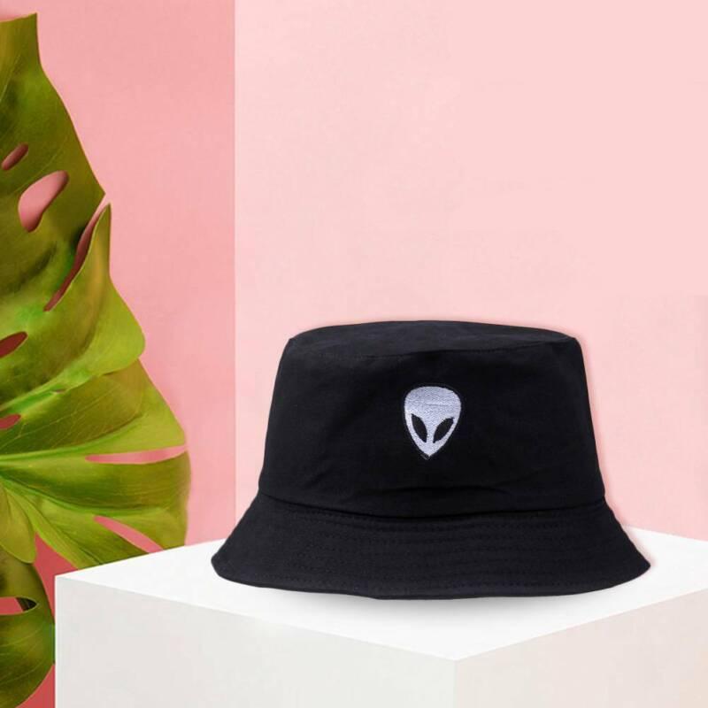 National Symbol Cyprus Unisex Cotton Packable Black Travel Bucket Hat Fishing Cap