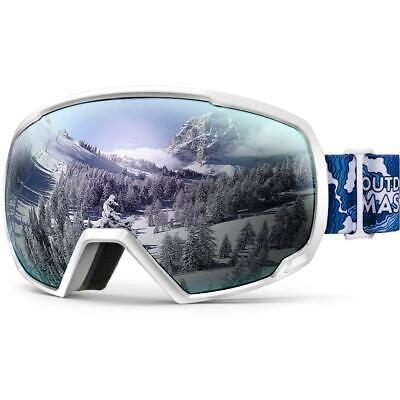 OutdoorMaster OTG Ski Goggles Over Glasses Ski/Snowboard Goggles for Men, Women
