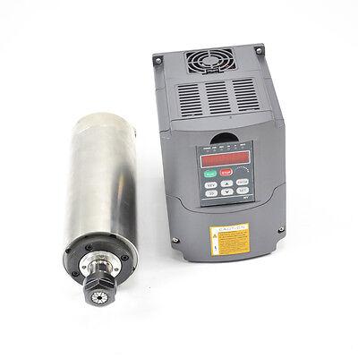 2.2kw Water Cooled Spindle Motor Er20 Vfd Inverter Drive 80mm Diameter Cnc