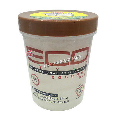 ECO Styler Coconut Oil Styling Gel Hair Family Size Max Hold Shine No Flake 32oz