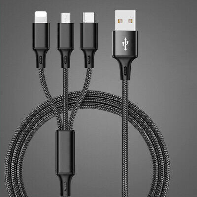 3 in 1 Multi Function USB Charger Charging Cable Universal Cell Phone Cord Hot