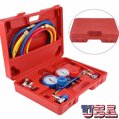 R134a Air Conditioning AC Diagnostic Manifold Gauge Car Truc
