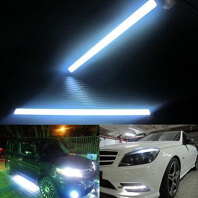 2X 12V 17cm LED COB Car Auto DRL Driving Daytime Running Lamp Fog Light White