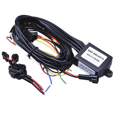 LED Daytime Running Light Automatic ON/OFF Controller Module Box Relay Universal