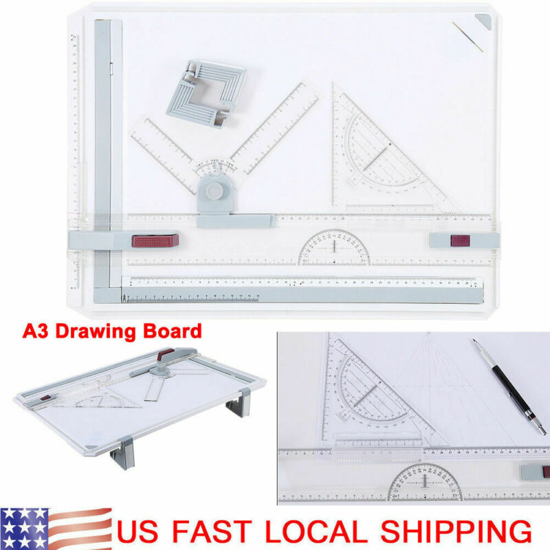 A3 Drafting Drawing Board Tracing Architect Stencil Ruler Table Sketch Tool USA