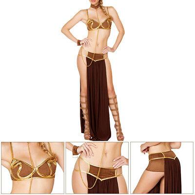 Slave Princess Costume (Sexy Women Cosplay Costume Uniform Manners Princess Leia Slave Miss Charm)