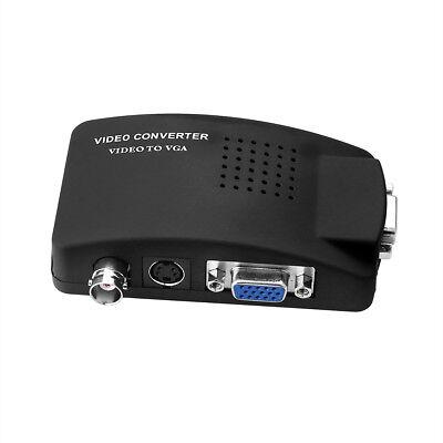 Bnc Vga (S-Video BNC VGA Video auf PC VGA Adapter Box)