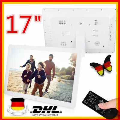 17 Zoll Digitaler Bilderrahmen Wecker Player HD MP3/4 AVI WMA 1440 * 900 HD Weiß