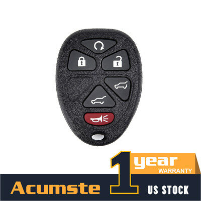 OEM FOR GM CHEVY KEYLESS REMOTE ENTRY KEY FOB ALARM 22936101 OUC60270 / 6 BUTTON