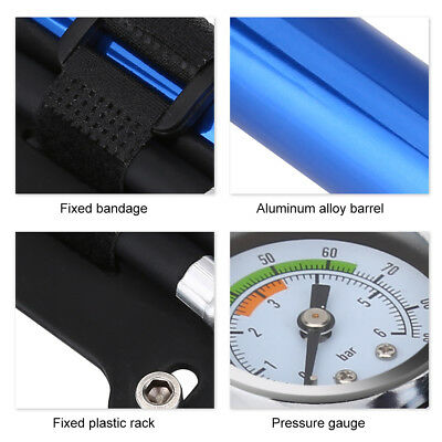 Mini Ultralight Mountain Bike Pump With Pressure Gauge Ball Tire Inflator
