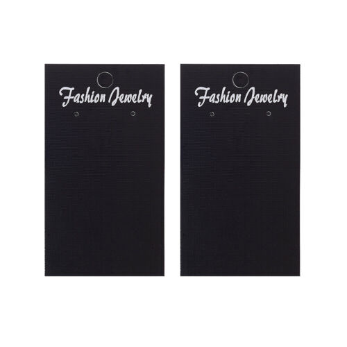100 pcs Rectangle Black Earring Displays Paper Cards Jewelry Display 90x50mm