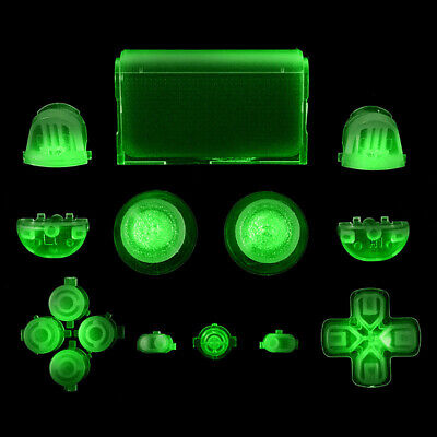 k Buttons Cap Replacement Parts for Sony PS4 Controller Eage (Glow In The Dark Buttons)