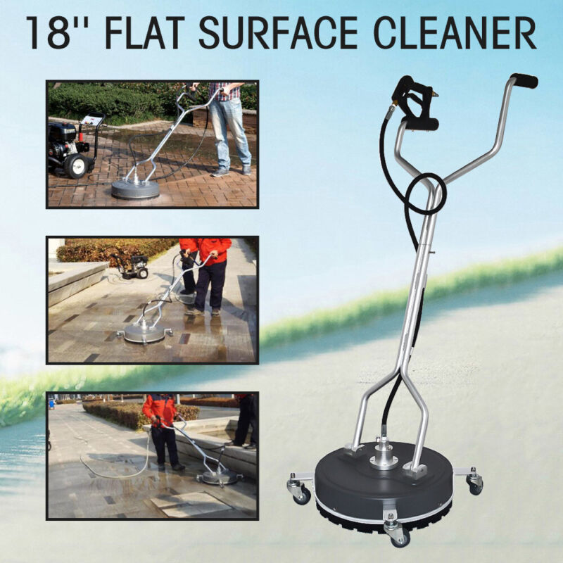 """18"""" Polypropylene Flat Surface Cleaner Cold Water Pressure Washer / Wheels"""