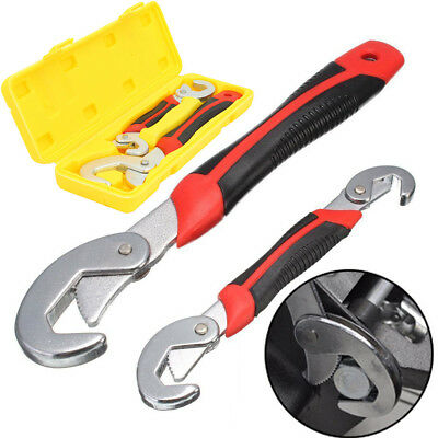 2PC Snap'N Grip 9-32mm Adjustable Wrench Spanner Universal Quick Multi-functIon Adjustable Wrenches