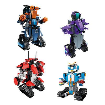 2,4 GHz 4CH Baustein DIY Spielzeug Elektrische RC Roboter Weihnachtsgeschenke Fü