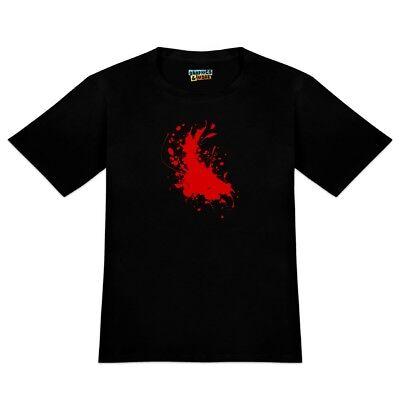 Blood Splatter Classic Horror Movie Halloween Men's Novelty T-Shirt