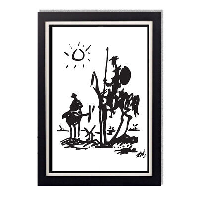 Pablo Picasso Don Quixote Reproduction Glossy Poster 24 x 36in