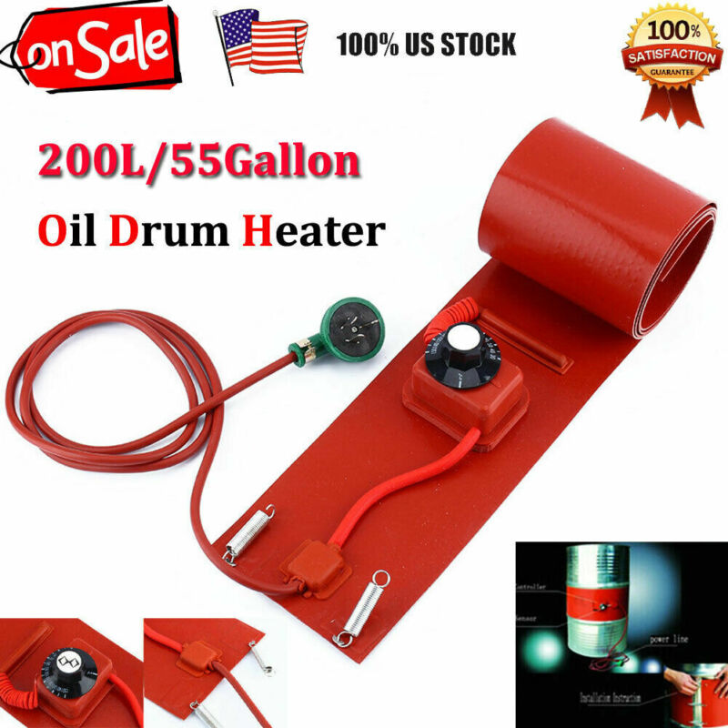 200L/55Gallon Silicon Metal Oil Drum Heater 110V 1000W US Plug New
