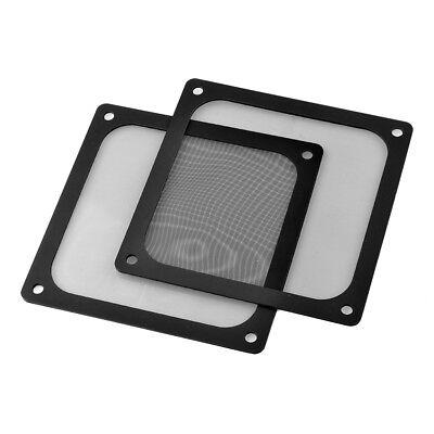 2x120mm Computer PC Kühler Fan Fall Abdeckung Staubfilter Mesh Magnetischer