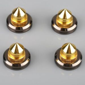 4Set Speaker Spike Isolation Feet Cone Pad CD Spikes Turntable Amp HiFi Kit