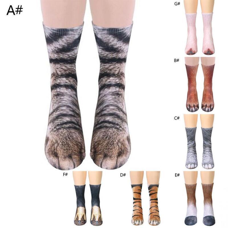 Lustiges Unisex-erwachsenes Kind-elastische Socken-Tierpfoten-Fuß-Crew 3D D P3B5