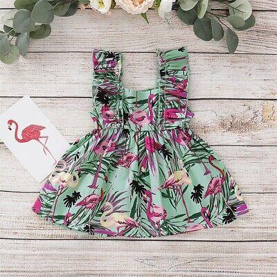 Toddler Holiday Clothing (Toddler Girls Summer Princess Dress Kid Baby Flamingo Tutu Dresses Clothes)