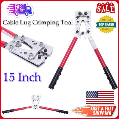 15 Inch Cable Lug Crimping Tool Terminal Heavy Duty Wire Copper Lugs Hx-50b Us