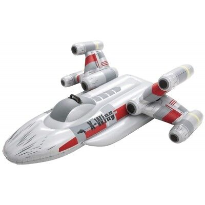 """Bestway Star Wars Inflatable Pool Float Rider Swimming Beach Kids Toy X-Wing 59"""""""