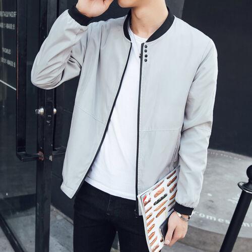 US New Men Fashion Casual Jacket Warm Winter Baseball Coat Slim Outwear Overcoat