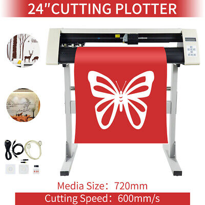 24 Vinyl Sign Cutter With Contour Cut Function 600mm Cutters Usb Us Stock